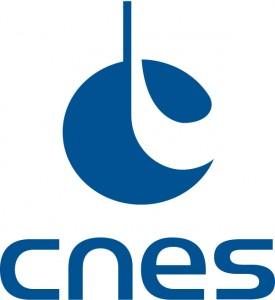 LOGO CNES- Vertical bleu